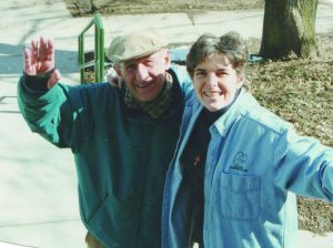 Al Antonini and Sr. Kathleen Osbelt on moving day 1998.